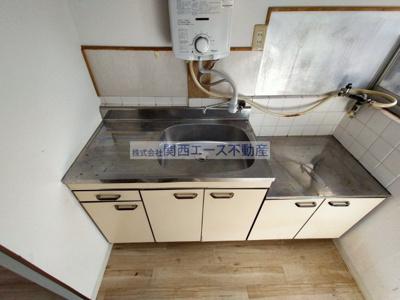 【キッチン】瓢箪山町貸家