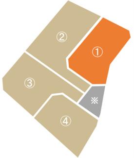 【土地図】びお御厨分譲4区画 ①号地