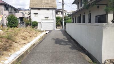 【前面道路含む現地写真】神戸市垂水区舞子台3丁目 土地 2区画