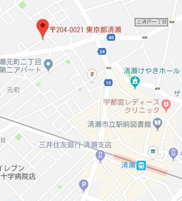 【地図】グランデ清瀬