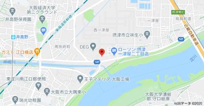 【地図】ローズコート一津屋