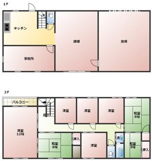 二世帯住宅・事務所兼用住宅・倉庫付き住宅など様々な用途に使用できる間取りです(^^)/