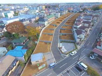 グランファミーロ小倉 分譲地域内には6.0mの道路が整備済みです!駐車や車同士のすれ違いが安心できる広さです!