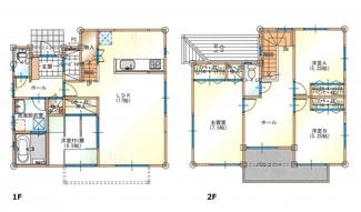 建物プラン例(24号地) 建物価格1577万円、建物面積105.99㎡