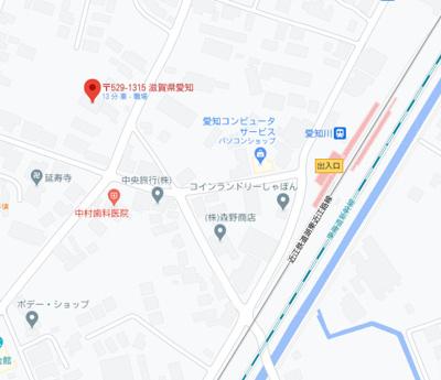 【地図】愛知川貸教室・事務所