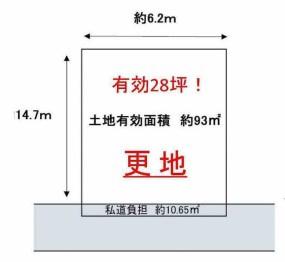 【土地図】東大阪市菱屋西3売土地