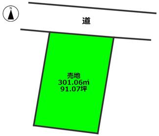 【土地図】阿波岐原町青木 売地