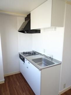 小林ビル ガスコンロ2口のワイド型システムキッチン