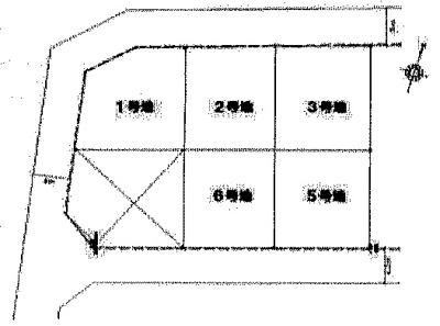 【区画図】衣川2丁目 分譲6区画 1号地