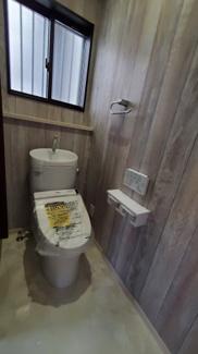 内装にこだわったトイレです
