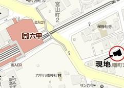 【地図】ヴェルデ六甲