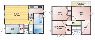 ジブンハウス仕様プラン例 建物面積81.28㎡ 建物価格1335万