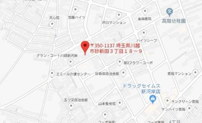 【地図】レオパレスエリュシオン(38021-308)