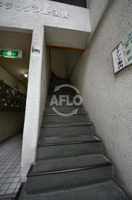 フラッグス肥後橋 階段