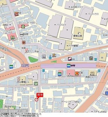 【地図】グレイス四谷