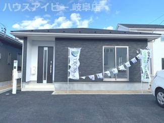 羽島市舟橋町 新築戸建全3棟 平屋の新築建売 前面道路広くお車停めやすいです 収納豊富な平屋です。