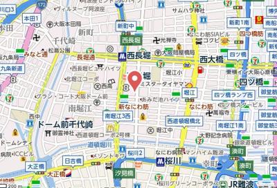 【地図】MARION KITAHORIE ANEX
