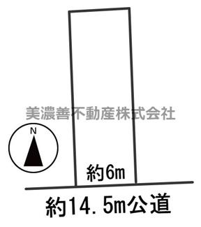 【区画図】55605 岐阜市敷島町土地