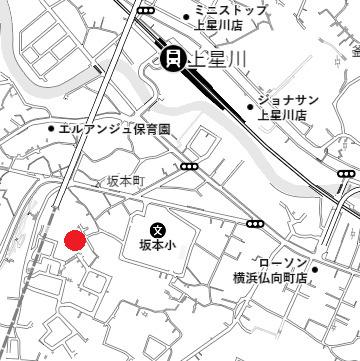 【地図】坂本町売地