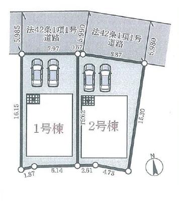 【区画図】神戸市西区宮下第1-1号棟 新築戸建
