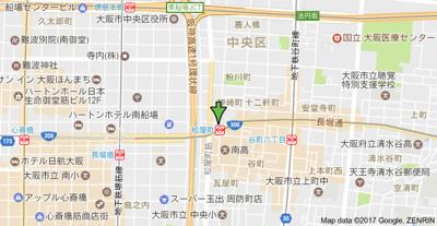 【地図】エイペックス心斎橋東