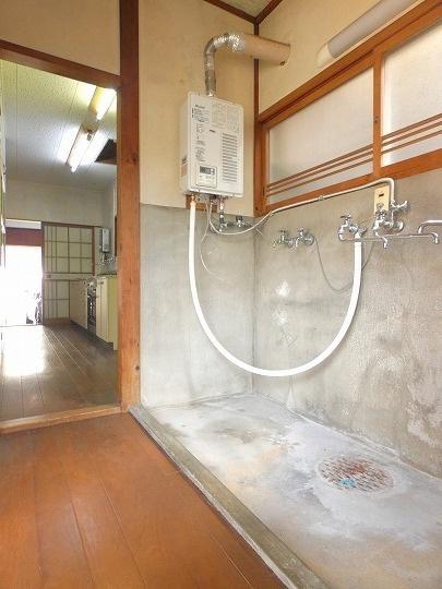 キッチン横にある洗い場