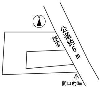 【区画図】55632 岐阜市六条南土地