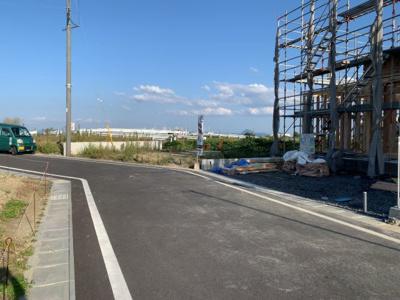 【前面道路含む現地写真】大津市雄琴4丁目9付近 新築戸建