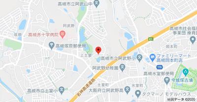 【地図】阪急ヒルズコート高槻アネックス (株)Roots