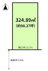 【区画図】一乗寺塚本町 土地約98坪