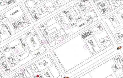 【地図】カサフローラ駐車場