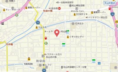 【地図】和泉南借家
