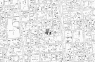 【地図】美芳町3丁目 売土地