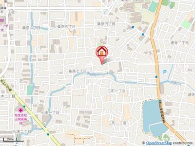 【地図】フラヌール桑原・