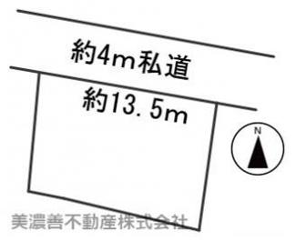 【区画図】54943 岐阜市長森岩戸土地