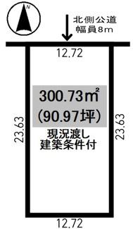 【土地図】北央町 売土地