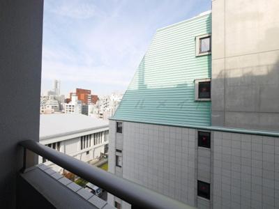 バルコニーからの眺望・南西向き・陽当たり良好です。803号室の眺望です