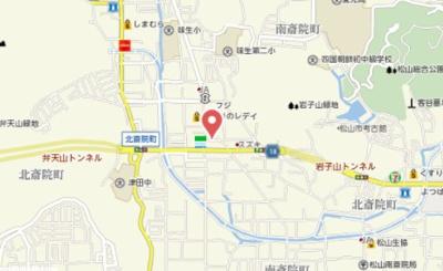 【地図】北斎院借家
