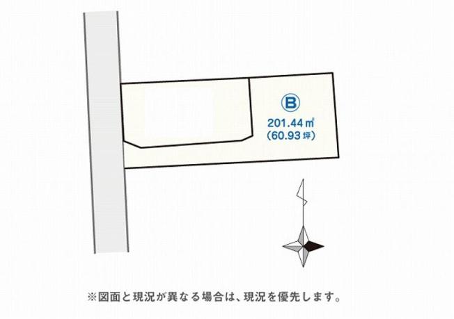 【土地図】【売地】宮崎市祇園3丁目B区画