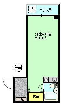 洋室8帖 東向き