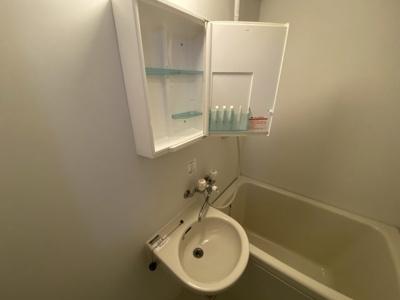 洗面台収納です