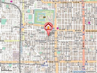 【地図】シャーメゾン二条城