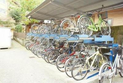 無料の自転車置き場です