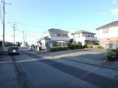 【前面道路含む現地写真】第3筑西幸町1棟現場完成済