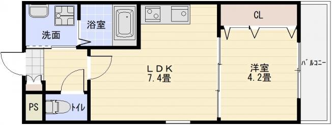 ステラウッド大県(堅下駅 柏原駅) 1LDK