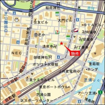 【地図】芝二丁目ハウス