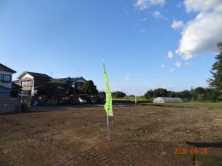 【展望】久喜市菖蒲町下栢間 建築条件なし売地 土地広々175坪