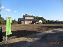 久喜市菖蒲町下栢間 建築条件なし売地 土地広々175坪の画像