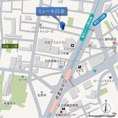 【地図】ミュール白金