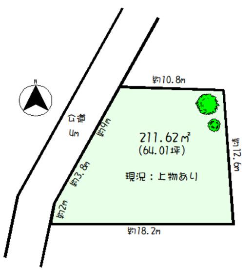 【区画図】建築条件なし土地 毛呂山町毛呂本郷
